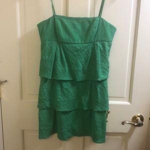 Green strapless BCBG mini dress